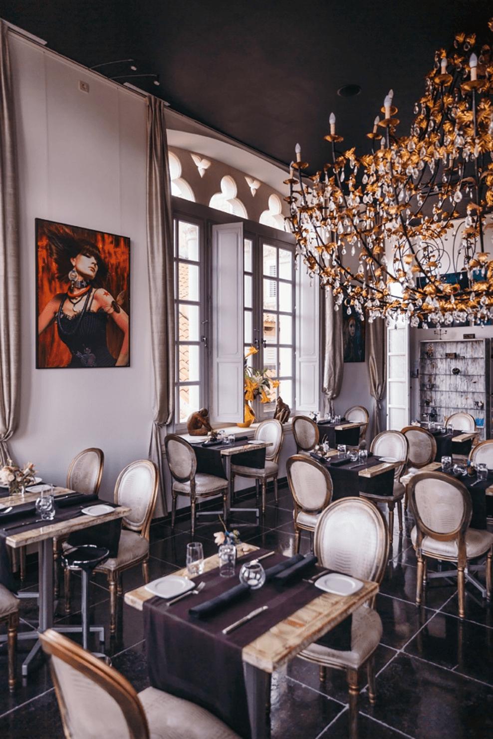 interior of restaruant